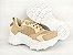 Tênis Chunky Sneaker Nude Clássico com Solado Branco 5 cm - Imagem 9