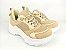 Tênis Chunky Sneaker Nude Clássico com Solado Branco 5 cm - Imagem 1