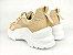 Tênis Chunky Sneaker Nude Clássico com Solado Branco 5 cm - Imagem 8