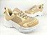 Tênis Chunky Sneaker Nude Clássico com Solado Branco 5 cm - Imagem 2