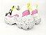 Tênis Chunky Sneaker Branco com Preto e Lilás Solado Decorado 6 cm - Imagem 10