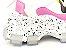 Tênis Chunky Sneaker Branco com Preto e Lilás Solado Decorado 6 cm - Imagem 4