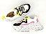 Tênis Chunky Sneaker Branco com Preto e Lilás Solado Decorado 6 cm - Imagem 7