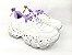Tênis Chunky Sneaker Branco com Lilás Solado Decorado 6 cm - Imagem 10
