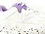 Tênis Chunky Sneaker Branco com Lilás Solado Decorado 6 cm - Imagem 5