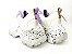Tênis Chunky Sneaker Branco com Lilás Solado Decorado 6 cm - Imagem 8
