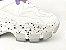 Tênis Chunky Sneaker Branco com Lilás Solado Decorado 6 cm - Imagem 3