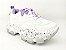 Tênis Chunky Sneaker Branco com Lilás Solado Decorado 6 cm - Imagem 1