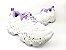 Tênis Chunky Sneaker Branco com Lilás Solado Decorado 6 cm - Imagem 4