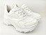 Tênis Chunky Sneaker Branco Total Clássico com Solado 5 cm - Imagem 1
