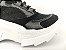 Tênis Chunky Sneaker Preto Clássico com Solado Branco 5 cm - Imagem 4