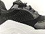 Tênis Chunky Sneaker Preto Clássico com Solado Branco 5 cm - Imagem 6
