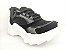 Tênis Chunky Sneaker Preto Clássico com Solado Branco 5 cm - Imagem 5