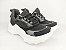 Tênis Chunky Sneaker Preto Clássico com Solado Branco 5 cm - Imagem 1