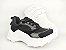 Tênis Chunky Sneaker Preto Clássico com Solado Branco 5 cm - Imagem 3