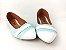 Sapatilha Azul Turquesa com Faixa Frente Branca - Imagem 4