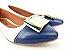 Sapatilha Branca com Bico Azul e Fivela Branca - Imagem 2