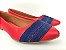 Sapatilha Vermelha com Faixas Jeans - Imagem 2