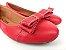 Sapatilha Vermelha Bico Redondo com Laço - Imagem 2