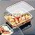 Pote de Plástico Descartável para Alimentos Retangular com Tampa com 24 Unidades - FREEZER E MICROONDAS - Imagem 2