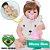 Bebê Reborn Gemma Ruiva 55cm em Silicone - Pronta Entrega! - Imagem 1