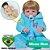 Bebê Reborn Rodolfo 55cm com Macacão Azul - Pronta Entrega! - Imagem 1