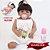 Bebê Reborn Gabrieli 55cm com Vestidinho Floral - Imagem 1