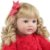 Bebê Reborn Glaucia 60cm com Vestido Vermelho e Ursinho Branco - Imagem 8