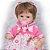 Bebê Reborn Pietra 3/4 Silicone 42cm com Vestido de Bolinhas - Pronta Entrega! - Imagem 8