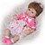 Bebê Reborn Pietra 3/4 Silicone 42cm com Vestido de Bolinhas - Pronta Entrega! - Imagem 4