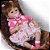 Bebê Reborn Pietra 3/4 Silicone 42cm com Vestido de Bolinhas - Pronta Entrega! - Imagem 7