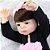 Bebê Reborn Carolina 55cm com Saia Rosa - Pronta Entrega! - Imagem 7