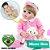Bebê Reborn Aline 55cm em Silicone com Ursinho Branco - Pronta Entrega! - Imagem 1
