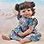 Bebê Reborn Hadassa 55cm com Vestido Florido - Pronta Entrega! - Imagem 2