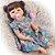 Bebê Reborn Hadassa 55cm com Vestido Florido - Pronta Entrega! - Imagem 8