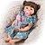Bebê Reborn Hadassa 55cm com Vestido Florido - Pronta Entrega! - Imagem 3