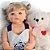 Bebê Reborn Ayla Loirinha 55cm com Urso Grande - Pronta Entrega! - Imagem 6