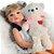 Bebê Reborn Ayla Loirinha 55cm com Urso Grande - Pronta Entrega! - Imagem 7