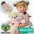 Bebê Reborn Ayla Loirinha 55cm com Urso Grande - Pronta Entrega! - Imagem 1
