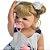Bebê Reborn Ayla Loirinha 55cm com Urso Grande - Pronta Entrega! - Imagem 8