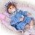 Bebê Reborn Milena 42cm 3/4 Silicone com Ursinho - Pronta Entrega! - Imagem 2
