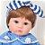 Bebê Reborn Milena 42cm 3/4 Silicone com Ursinho - Pronta Entrega! - Imagem 6