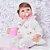 Bebê Reborn Luiza 42cm 3/4 Silicone com Enxoval Floral - Pronta Entrega! - Imagem 3