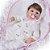 Bebê Reborn Luiza 42cm 3/4 Silicone com Enxoval Floral - Pronta Entrega! - Imagem 2