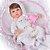 Bebê Reborn Luiza 42cm 3/4 Silicone com Enxoval Floral - Pronta Entrega! - Imagem 4