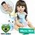 Bebê Reborn Raquel 55cm com Coelhinho e Pente - Pronta Entrega! - Imagem 1