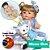 Bebê Reborn Rosângela 55cm com Lindo Vestido Girassol - Imagem 1