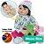 Bebê Reborn Carol 55cm Enxoval de Pinguim com Sapinho - Imagem 1