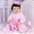 Bebê Reborn Júlia 55cm com Macacão Sweet Dreams - Imagem 2