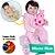 Bebê Reborn Júlia 55cm com Macacão Sweet Dreams - Imagem 1
